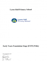 EYFS Policy Sept 17