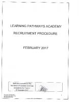 Recruitment Procedure Feb 17