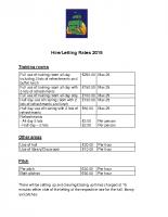 Hiring Lettings Rates 2018