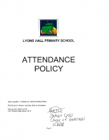 Attendance policy – 2018